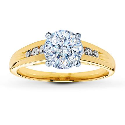 Diamond Ring Setting 1 6 Ct Tw Round Cut 14k Yellow Gold
