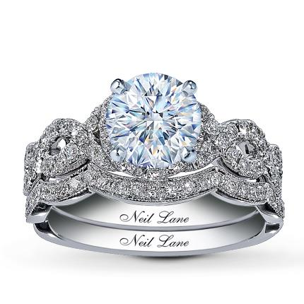Neil Lane Bridal Setting 7 8 Ct Tw Diamonds 14k White Gold Kay