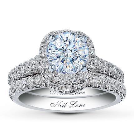 Neil Lane Bridal Setting 1 ct tw Diamonds 14K White Gold Kay Jewelers