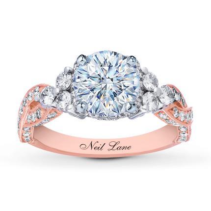 3ac874af5 Neil Lane Ring Setting 1 ct tw Diamonds 14K Two-Tone Gold - Kay Jewelers