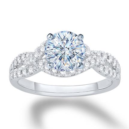 393e1f3dc Diamond Engagement Ring Setting 1/2 ct tw 14K White Gold - Kay Jewelers